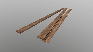 Low Poly Wooden Planks 2 3D model