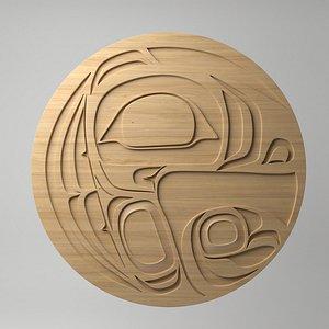 3D northwest coast art circular model