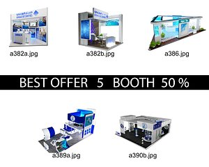 3D Booth Exhibition Stand c15