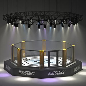 arena octagon mma cage 3D model