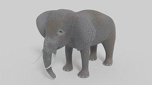 animation elephant 3D model