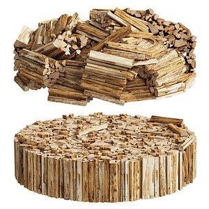 3D 039 Firewood Logs 02 model