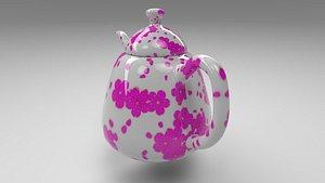 3D teapot 4k unwrapped model