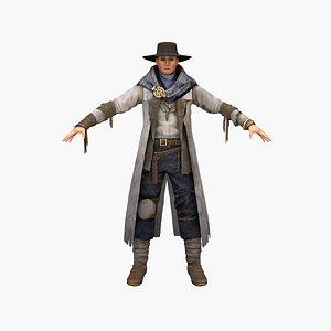 cowboy human 3D model