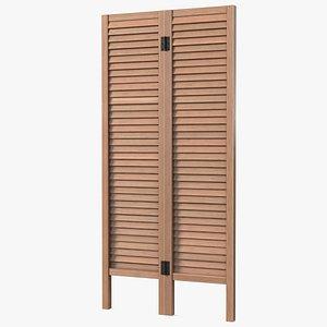 3D room panel wooden
