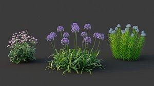 3D XfrogPlants Garden Flowers Pack 1