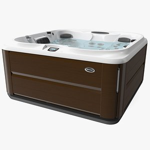 3D Jacuzzi J475 Spa Hot Tub Hardwood with Water model