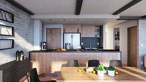 3D Interior Kitchen model