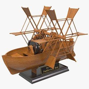 Leonardo Paddle Wheel Boat 3D