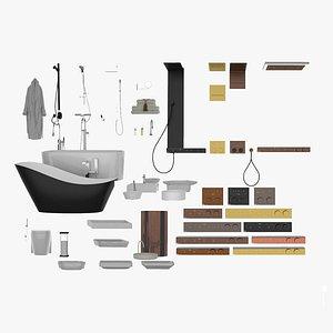 Bathroom Fixtures Collection  3D model
