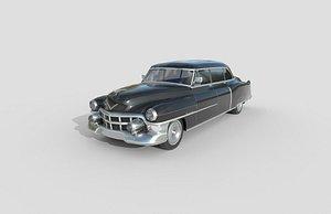3D Low Poly Car - Cadillac 75 Sedan 1953 model