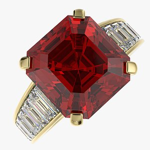 Golden Ring with Ruby model