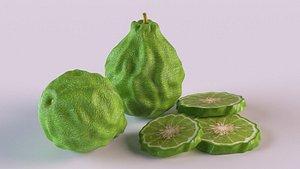 lime food fruit 3D model