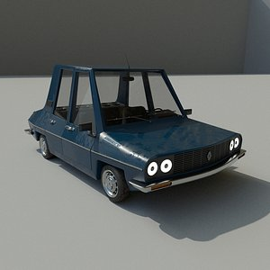 3D Cartoon Car Toros model