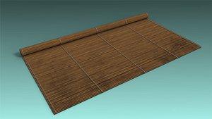 low-poly mat 3D model