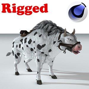 3D Buffalo white Rig