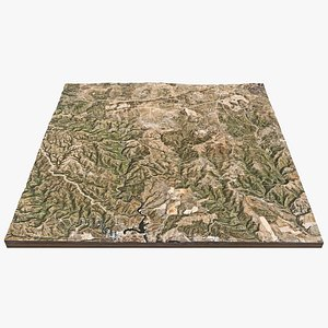 3D Spain Hills model