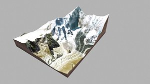 3D model mountain landscape homolungma mount everest