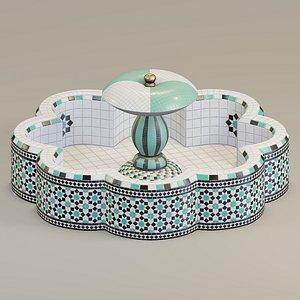 fountain mosaic octagonal 3D
