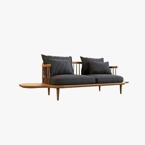 Fly Double Sofa V2 3D model