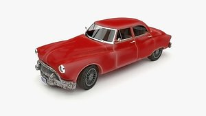 Rigged old car Buick Model subdivision ready and redshift material. model
