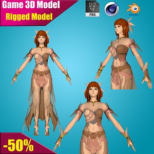 hero cartoon female model