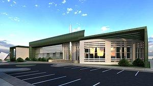 cultural center exterior school 3D model