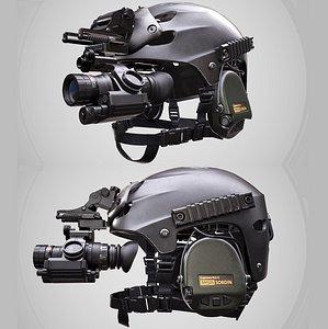 Helmet Protec alpha-bravo half shell 3D