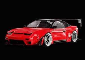 3D nissan 240sx widebody model
