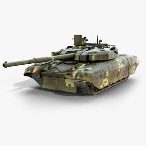 ukrainian battle tank oplot 3d model