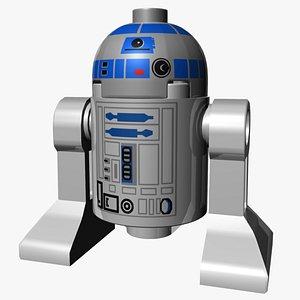 3D Lego R2-D2 model