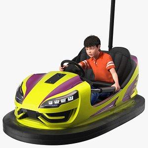 Boy with Bumper Car Fur model