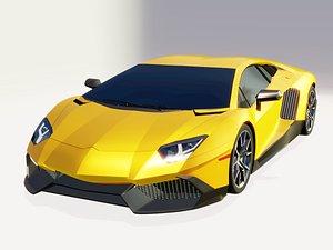 3D car exterior