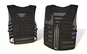 p9m molle tactical vest 3D model