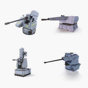 Naval Guns 3D model