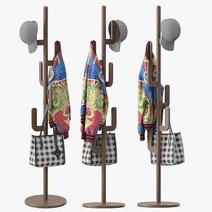 KASLANDI Wood Coat Rack Stand 3D model