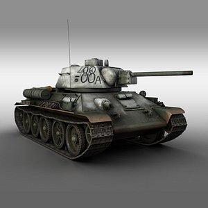 3D model t-34 t-34-76 soviet