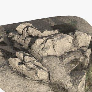 rock coast 3D model