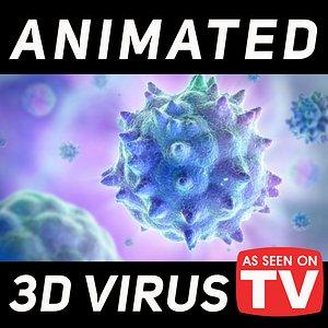 3D virus cell bacteria model