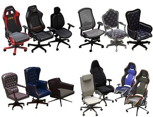 3D office chair pack