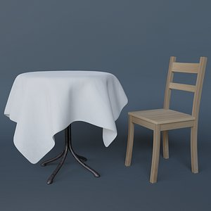 3D Table and chair model