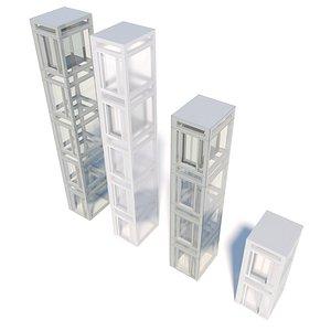 glass elevator model