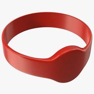 3D RFID Silicone Wristband