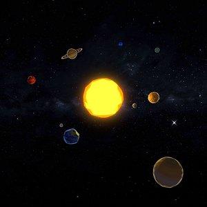 3D model Stilized Solar System