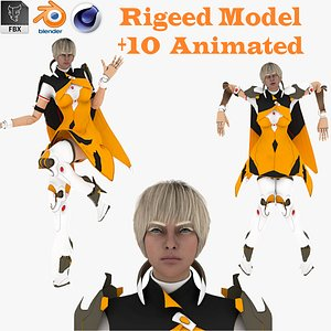 Pandora Rigged and Animated model