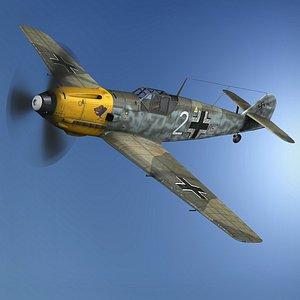 Messerschmitt - BF-109 E - White 2 - JG 5 3D model