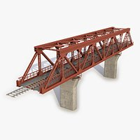 Modular Railway Bridge 18 3D Model