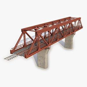 3D railway bridge rail
