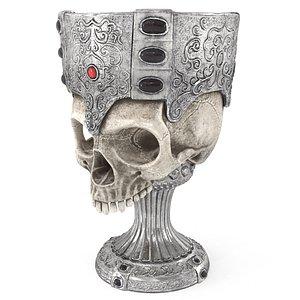 antique goblet skull 3D model