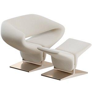 Ribbon Armchair by Artifort 3D model